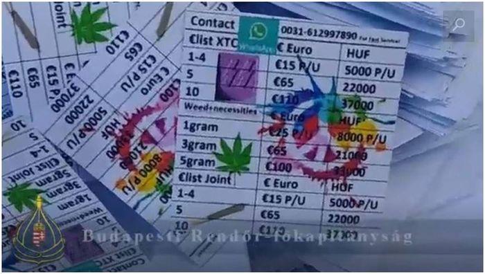 Polisi Hungaria merilis daftar harga narkoba yang dijual para tersangka di sebuah festival di Budapest, Hungaria. Salah satu yang ditangkap adalah seorang sprinter muda asal Belanda.