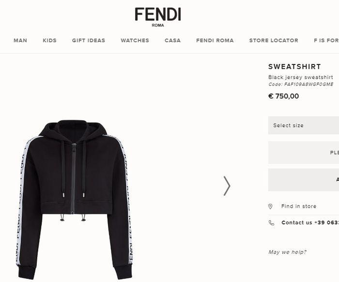 Harga pakaian jogging yang dikenakan Krisdayanti (Fendi.com)