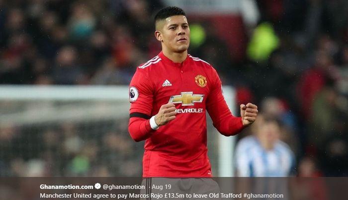 Bek tengah Manchester United, Marcos Rojo.