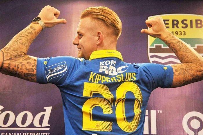 Kevin van Kippersluis, saat diperkenalkan sebagai pemain anyar Persib Bandung di Kota Bandung, Selasa (20/8/2019).