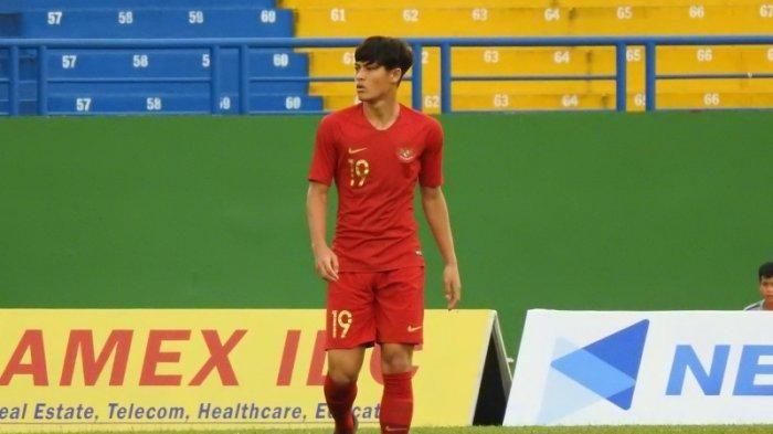 Bek timnas U-18 Indonesia, Alfeandra Dewangga, yang akan memperkuat Persib Bandung di putaran kedua Liga 1 2019.