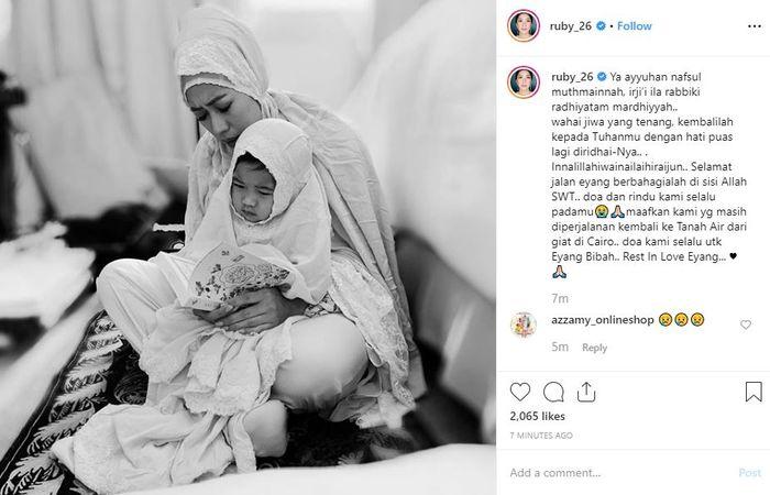Unggahan dari Aliya Rajasa yang mengabarkan tentang berpulangnya ibunda dari ayah mertuanya, SBY