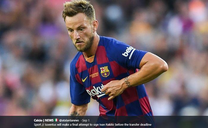 Gelandang tengah <a href='https://pekanbaru.tribunnews.com/tag/barcelona' title='Barcelona'>Barcelona</a>, <a href='https://pekanbaru.tribunnews.com/tag/ivan-rakitic' title='IvanRakitic'>IvanRakitic</a>, yang dikabarkan diminati serius oleh Manchester United.