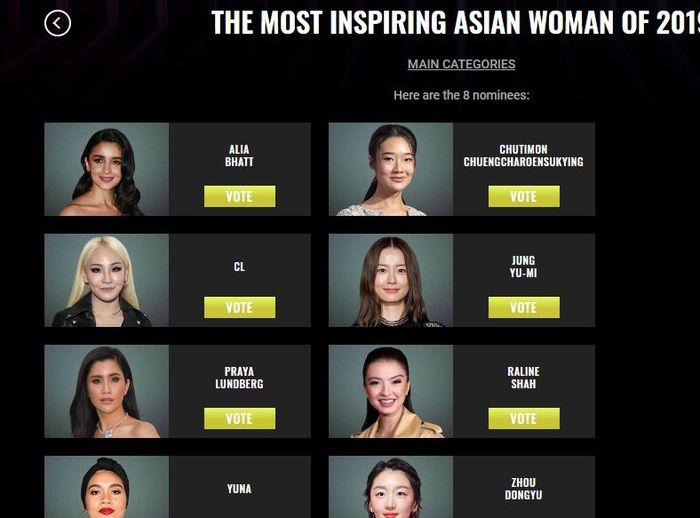 Raline Shah menjadi aktris asal Indonesia satu-satunya yang masuk dalam nominasi E! People's Choice Awards (PCA) 2019