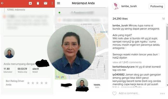 Info yang membuktikan Darti Manulang jadi driver taksi online