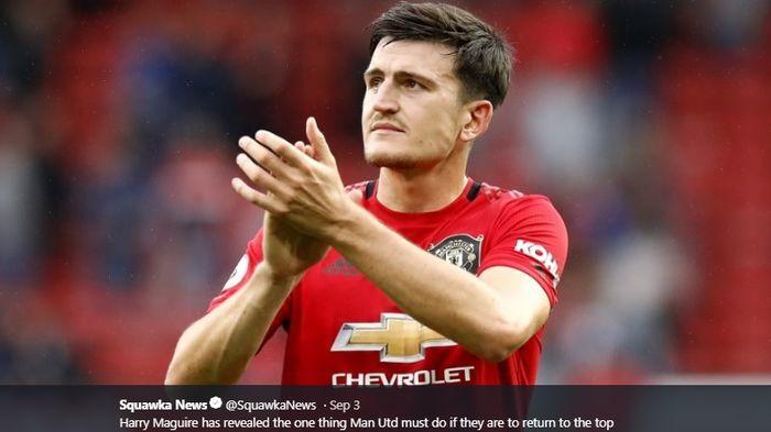 Bek tengah Manchester United, Harry Maguire.