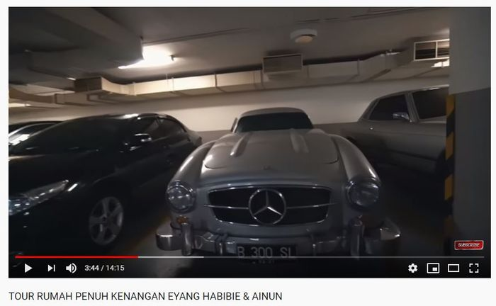 Mercedes-Benz 300 SL Gullwing legendaris milik BJ Habibie