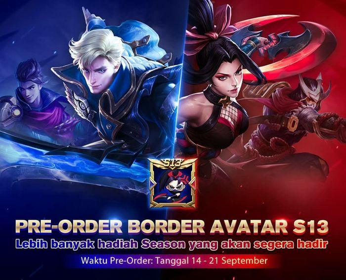 Preorder Border Avatar S13 Mobile Legends