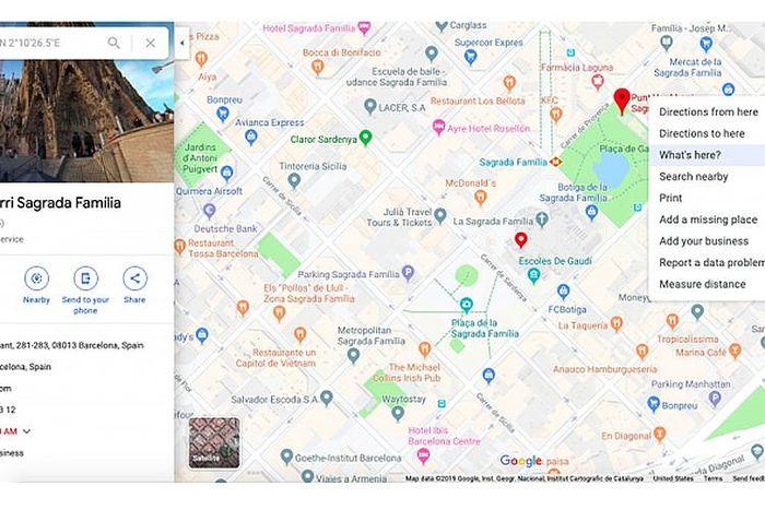 Cara memperoleh titik koordinat di Google Maps versi desktop