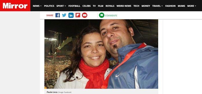 Paula Leca dan Suami.