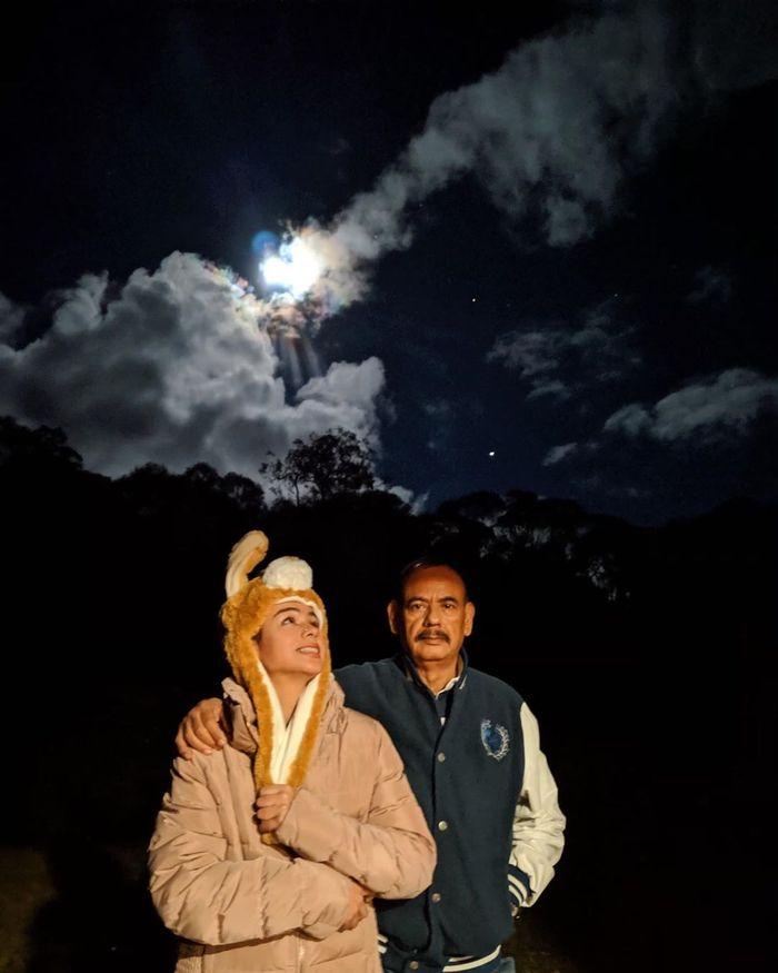 Sahila Hisyam bersama sang ayah tercinta
