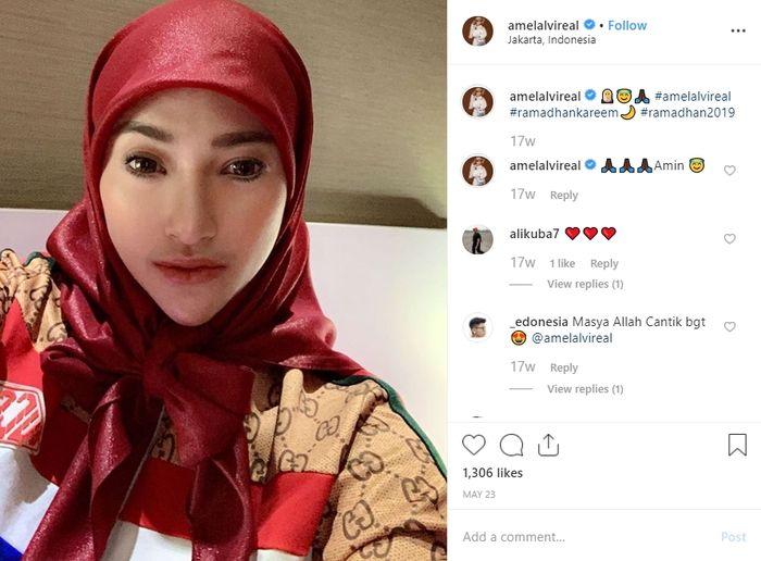 Unggahan Amel Alvi di Instagram