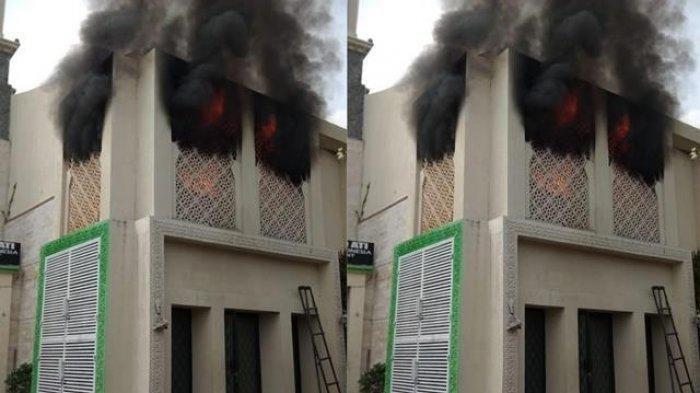 Kondisi rumah Opick di Cakung, Jakarta Timur yang terbakar pada Minggu (29/9/2019) pagi.
