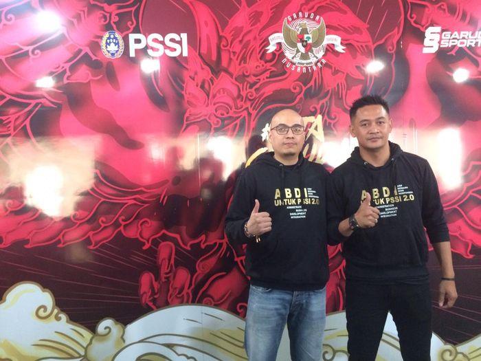 Arif Wicaksono dan Dony Setiabudi mendaftarkan diri menjadi calon ketum dan waketum PSSI periode 2019-2023