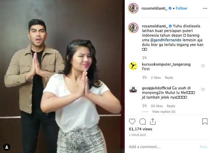 Rosa Meldianti mengaku sedang persiapan ikuti ajang Puteri Indonesia