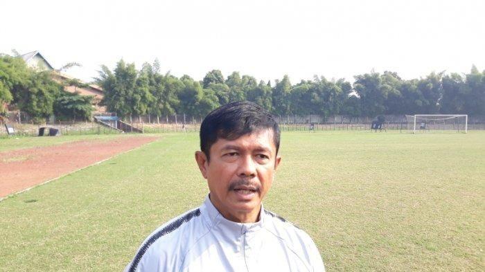 Pelatih timnasU-23 Indonesia, Indra Sjafri saat ditemui wartawan di Stadion Pajajaran, Bogor, Rabu (2/10/2019).