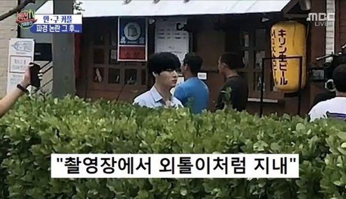 Ahn Jae Hyun keluyuran sendiri di lokasi syuting drama terbarunya.