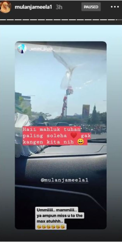 Instagram Story Mulan Jameela untuk Ummi Pipik.