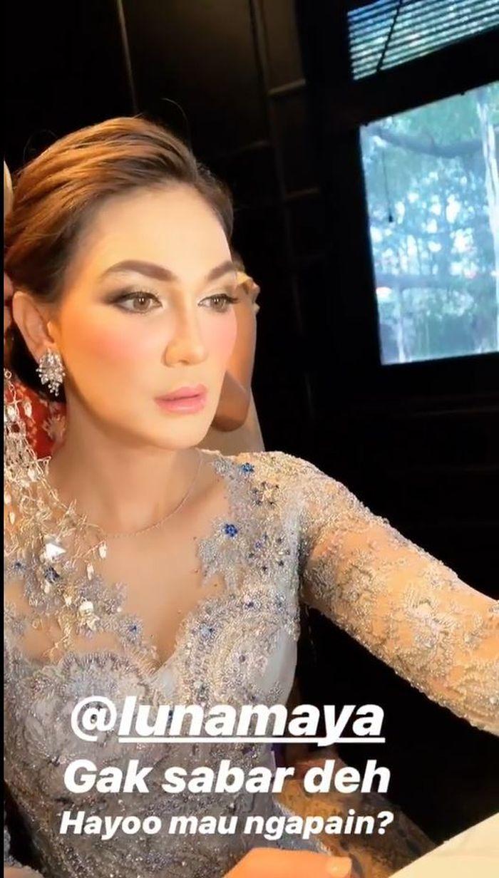 Luna Maya dengan riasan ala pengantin bikin heboh netizen