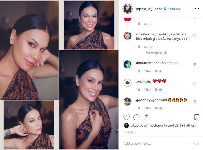 Komentar netizen dalam postingan Sophia Latjuba