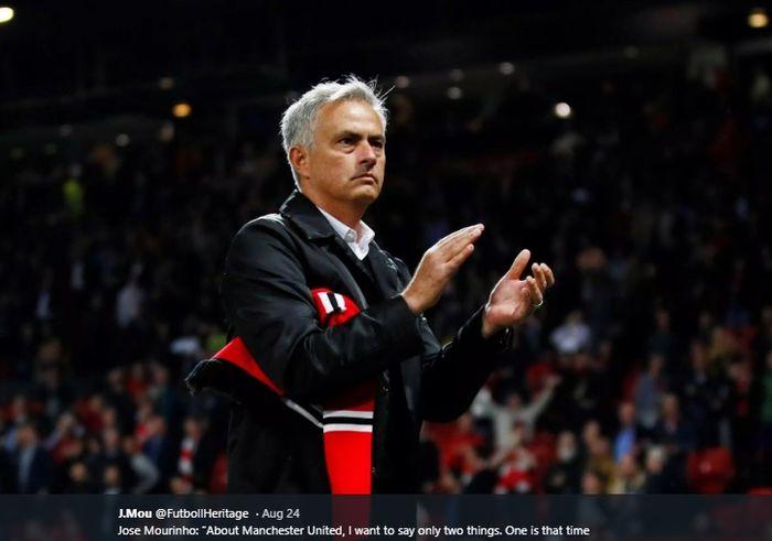 Momen Jose Mourinho sewaktu masih menjabat pelatih Manchester United.