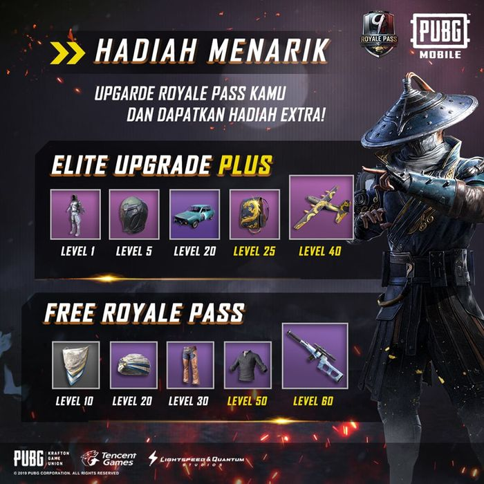 Elite upgrade plus dan free royale pass