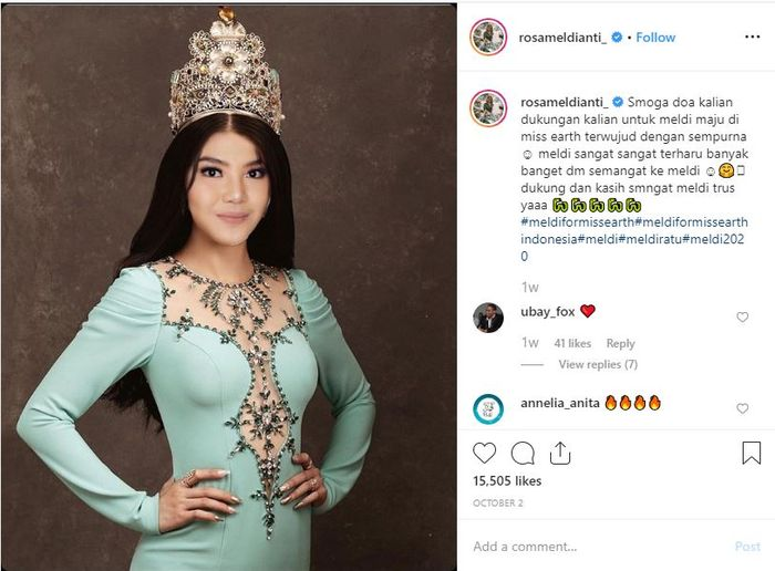 Meldi berambisi jadi Miss Earth