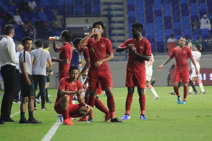 MEDIA PSSI Gelandang timnas Indonesia, Hanif Sjahbandi, saat melawan Uni Emirat Arab