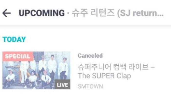 Super Junior batalkan live