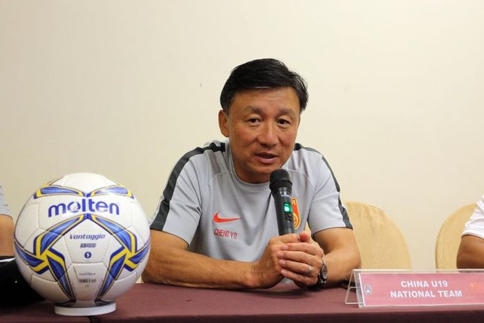 Pelatih timnas U-19 Indonesia, Cheng Yau Dong saat memberikan keterangan pers, Rabu (16/10/2019), jelang laga kontra timnas U-19 Indonesia.