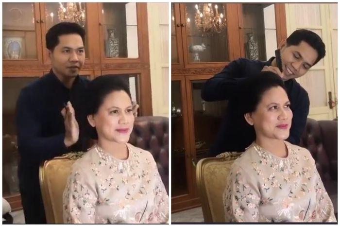 Gaya makeup dan rambut Iriana Jokowi jelang pelantikan Presiden dan Wakil Presiden 2019-2024