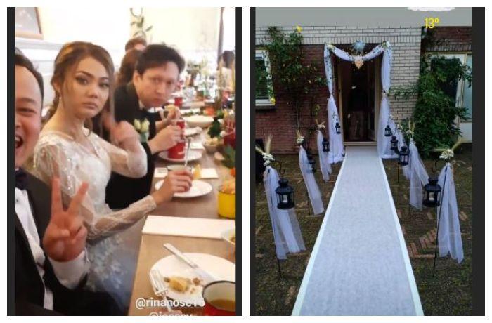Dekorasi dan resepsi pernikahan Rina Nose dan Josscy Aartsen