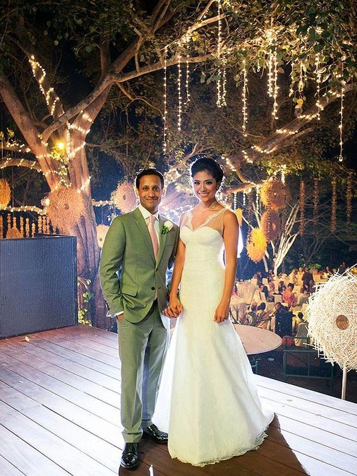 Tampilan Franka Franklin saat menikah dengan Nadiem Makarim pada tahun 2014