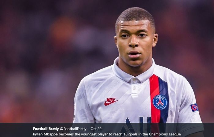 Penyerang muda milik Paris Saint-Germain, Kylian Mbappe.