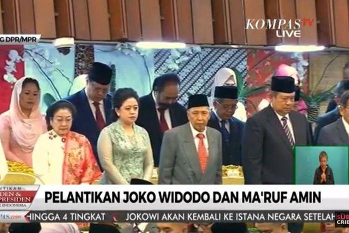 Megawati dan SBY di pelantikan Jokowi