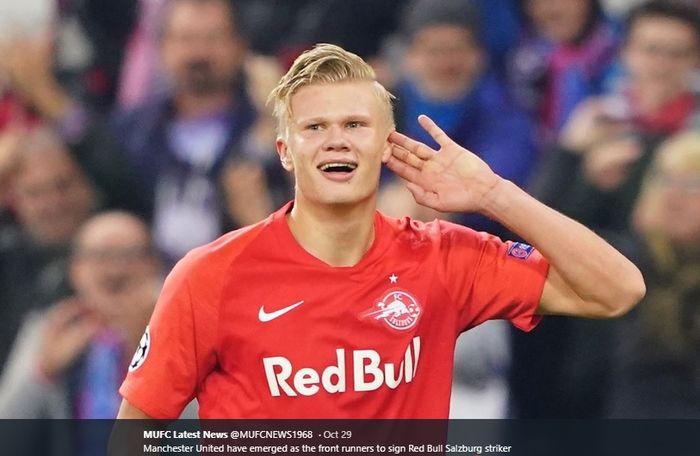 Striker muda milik Red Bull Salzburg, Erling Braut Haaland, yang tengah diminati tim-tim besar Eropa.