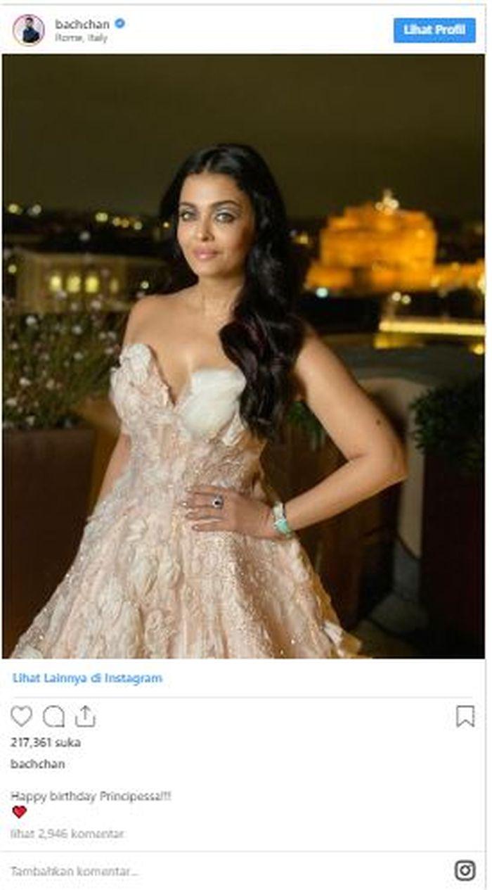 Aishwarya Rai Rayakan Ulang Tahun Ke 46 Pesan Cinta Dari