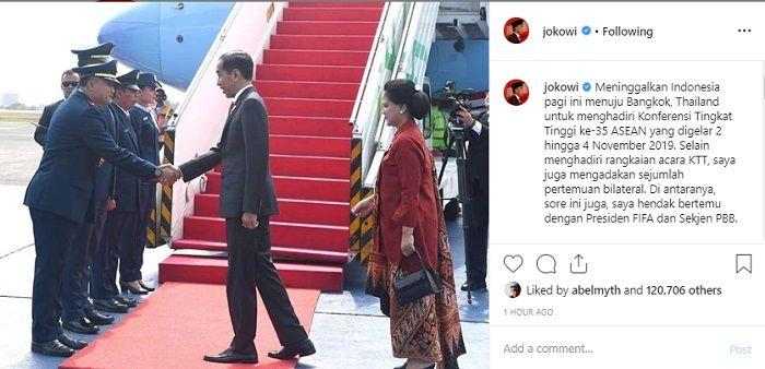 Presiden Joko Widodo dijadwalkan akan bertemu presiden FIFA pada Sabtu (2/11/2019) di sela-sela KTT Bangkok.