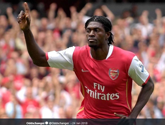 Emmanuel Adebayor saat masih bermain untuk Arsenal