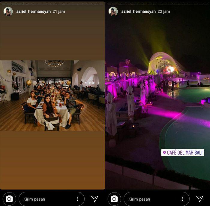 Suasana kejutan ulang tahun Ashanty di Bali