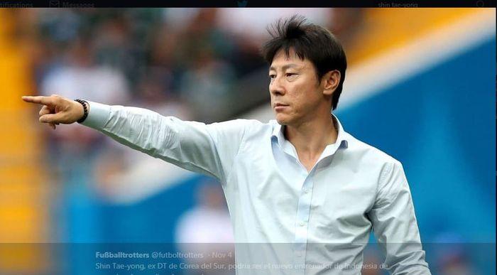 Shin Tae-yong, eks pelatih timnas Korea Selatan.