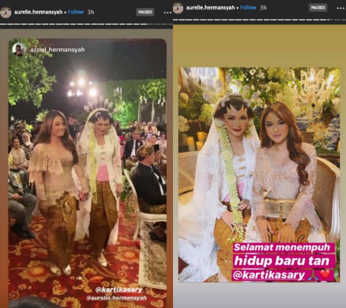 Aurel Hermansyah dan Azriel Hermansyah hadir di prosesi akad nikah Kartika Sary