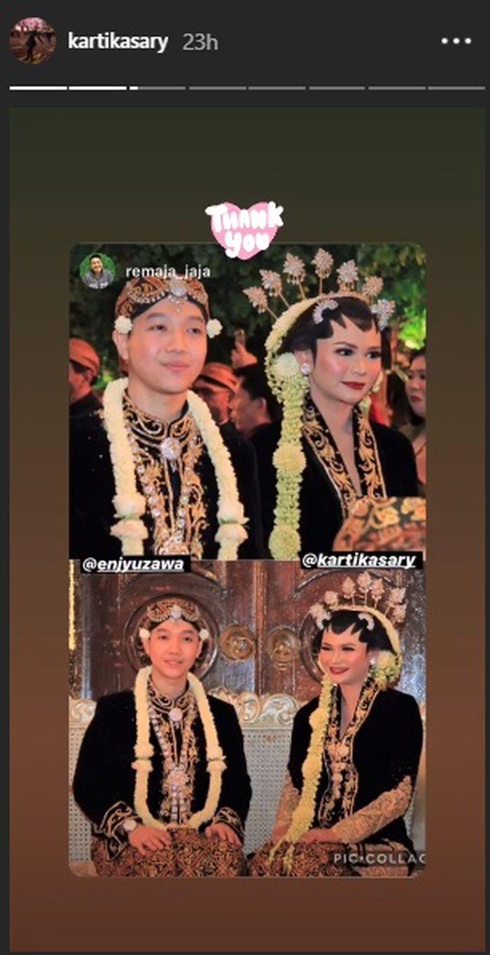 Potret pernikahan Kartika Sary, adik Krisdayanti dan Yuni Shara