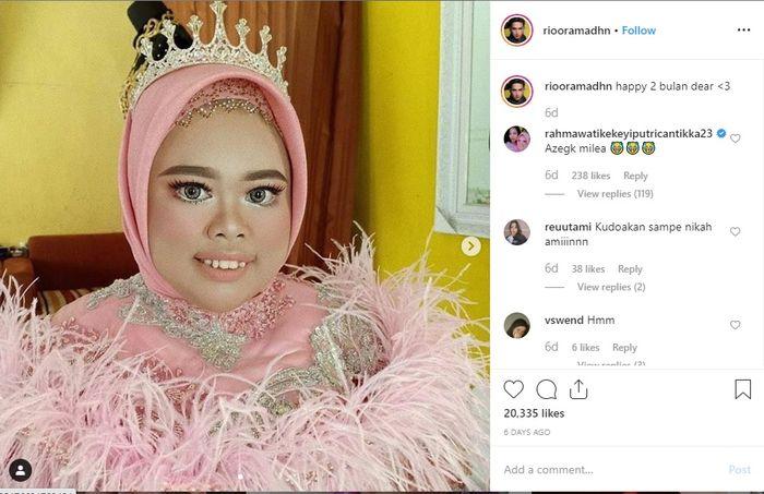 Rio Ramadhan dan Kekeyi mengumbar kemesraan mereka di Instagram.