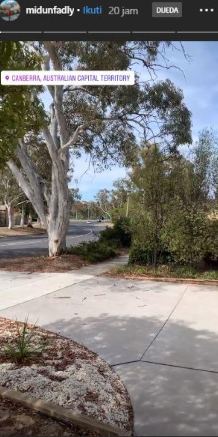 Penampakan halaman rumah Nagita Slavina di Canberra, Australia.
