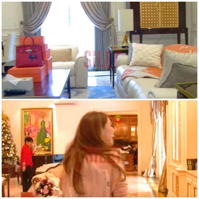 Ruang tamu dan santai di rumah Helena Lim