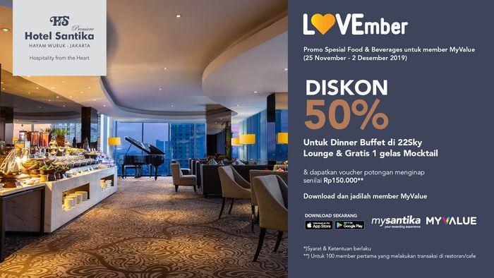 Promo Lovember Hadir Nikmati Diskon F B Hingga 50 Dan Double Point Myvalue Di Seluruh Unit Hotel Santika Semua Halaman Grid Id