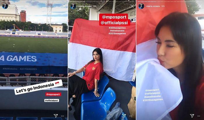 Miyabi ikut mendukung Timnas U-23 Indonesia di SEA Games 2019.