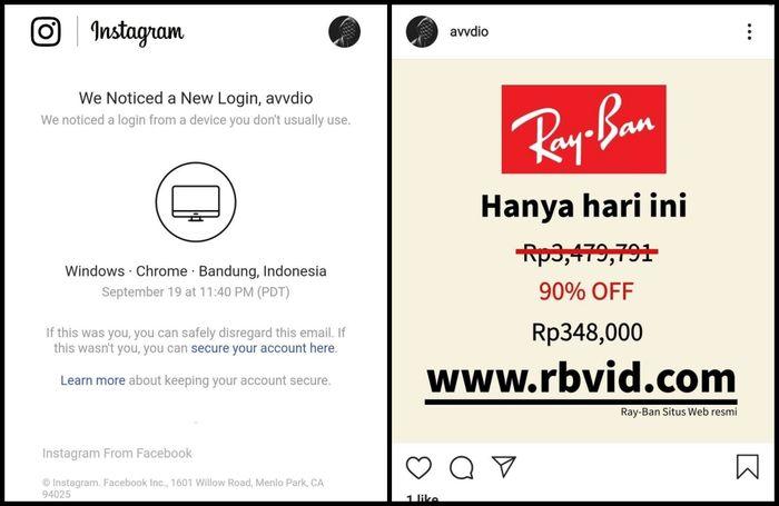 Hati Hati Penipuan Kacamata Ray Ban Di Instagram Bisa Hack Akun