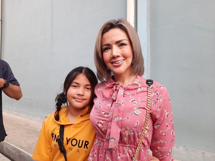 Keisha Aira Natania saat ditemui Grid.ID bersama Barbie Kumalasari di kawasan Tendean, Jakarta Selatan, Senin (2/12/2019).
